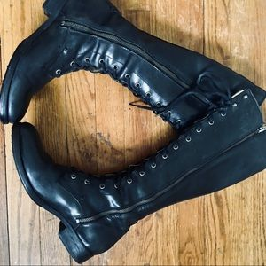 Frye Melissa Tall Lace up Boots -11 black leather